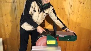 Tous travaux de ponçage grâce à la ponceuse combinée lapidaire et bande Holzprofi BDS612