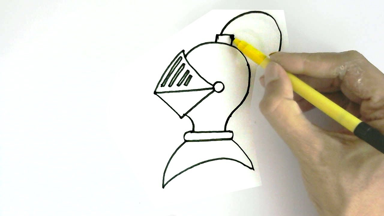 how to draw knight in easy steps for children kids beginners youtube