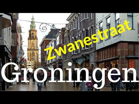 Groningen, The Netherlands (6/11) Zwanestraat.. City Center Tour (4K)