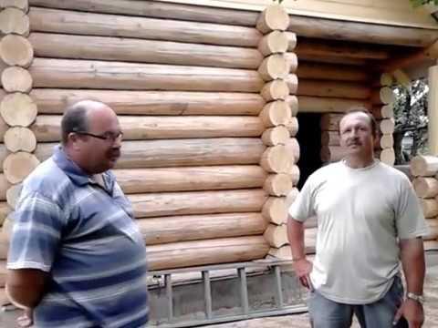 Баня из бревна ручной рубки в деревне Слабодищи Гороховецкого района Владимирской области