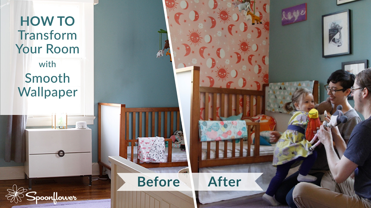 How To Install Spoonflower Smooth Wallpaper Transform Your Room With Spoonflower