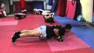 Kik boks klub Zemun Trening 1
