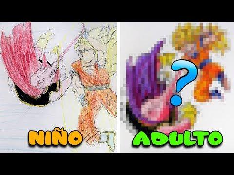 REHACIENDO DIBUJO DE MI INFANCIA   Goku SSJ3 vs Majin Buu   ArteMaster