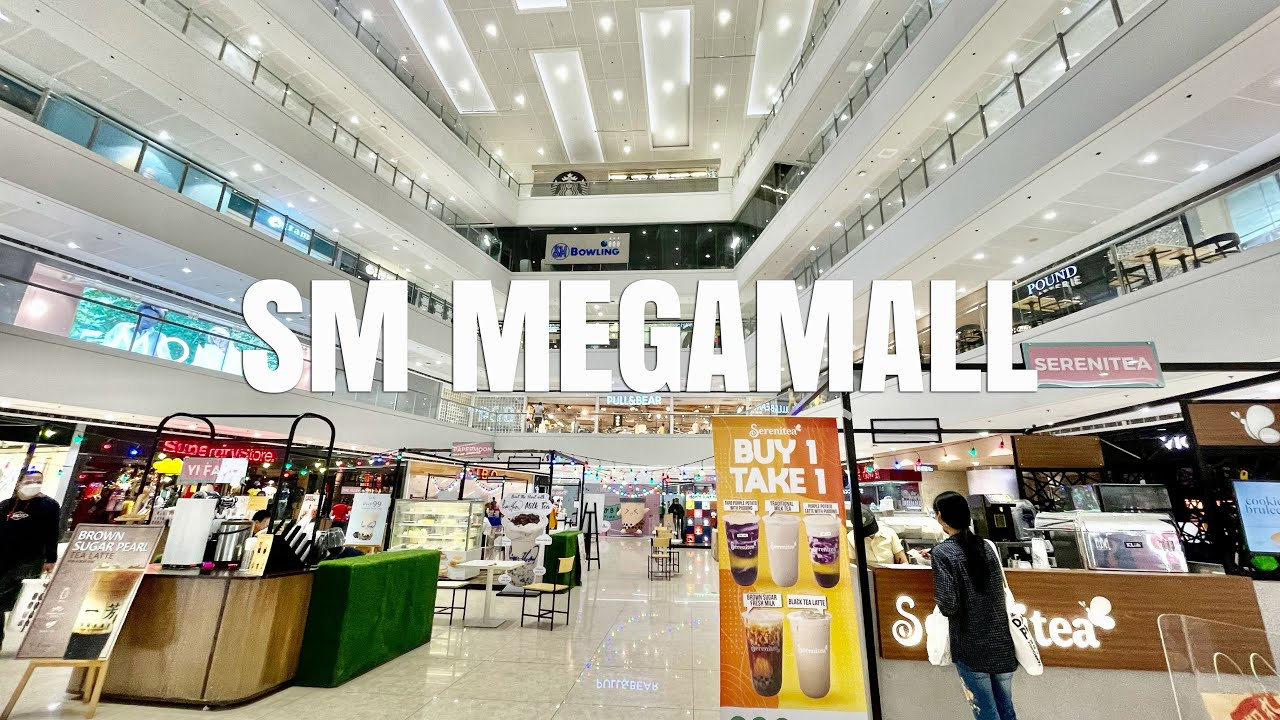 [4K] SM Megamall Walking Tour   9th Largest Mall in the World!
