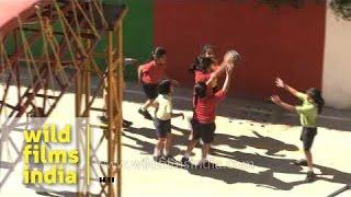 Basketball time for children of The Shri Ram School - Delhi
