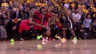 Andre Iguodala Locks Down Damian Lillard To Close Out Game 2, Runs Straight To Locker Room | WCF