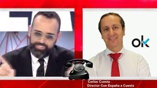 Carlos Cuesta a Risto Mejide:Eres un inquisidor de tercera al servicio de Podemos y de Iglesias