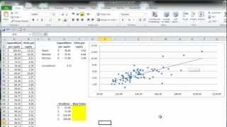 Excel Statistics 07 - Simple Linear Regression (Trend Function)