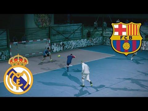 Fifa Street Gameplay Xbox 360 - Barcelona vs Real Madrid, Un partido muy rudo, Casi a los Golpes