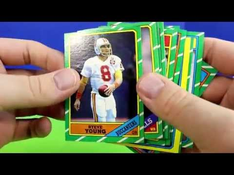 1986 Topps NFL Rack Pack Opening Pack Break Cards Possible Jerry Rice Steve Young Rookie