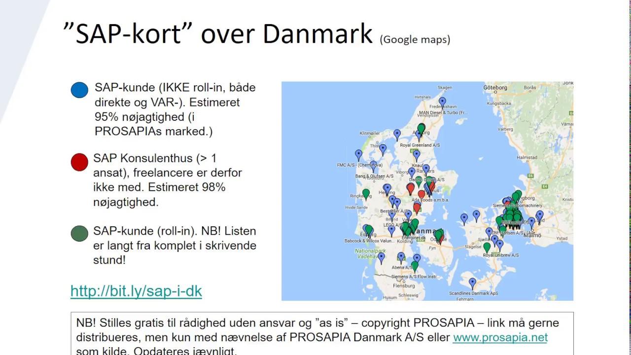 Kort Over Sap Kunder Og Konsulenthuse I Danmark Introduktion Youtube