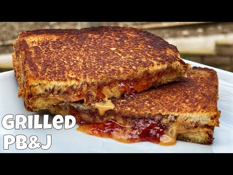 Grilled Peanut Butter and Blueberry Sandwich