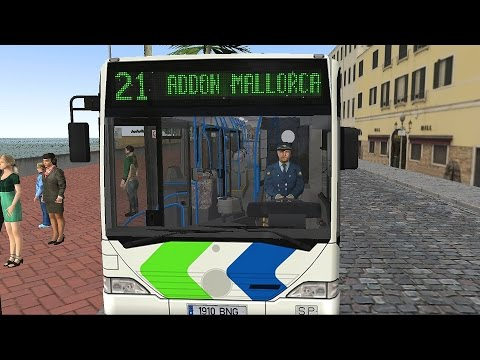 OMSI 2 - Mallorca Line 21 Palma Airport to S'Arenal Gameplay