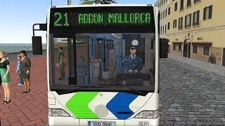 OMSI 2 - Mallorca Line 21 Palma Airport to S'Arenal Gameplay 4K