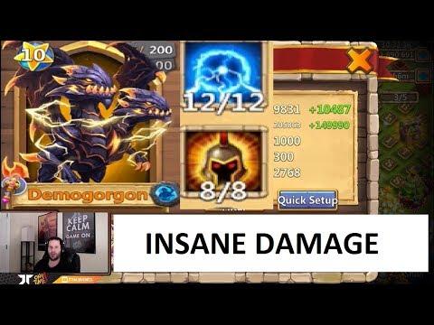Demogorgon 12/12 War God 8 Unbuffed BIG BOY Damage Castle Clash