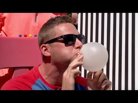 Thumbnail: Bubble Gum Blowing Battle | Dude Perfect