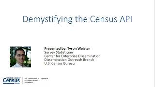 Demystifying The Census API