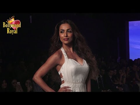 Malaika Arora As Show Stopper For Mandira Wirk At The Bombay Times Fashion Week 2018
