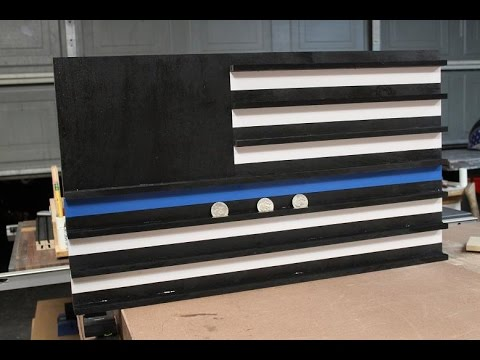 Thin blue line  Challenge coin rack