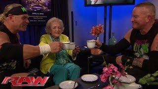 Betty White encounters The New Age Outlaws: Raw, Feb. 10, 2014