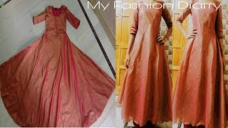HOW to make umbrella cut kameez with NO JOINT,DIY