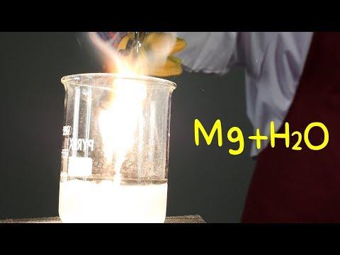 Magnesio Y Agua. Reacciones Químicas.