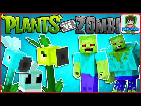Майнкрафт напал на растение против зомби смотреть Minecraft Plants vs zombie От Фаника 3