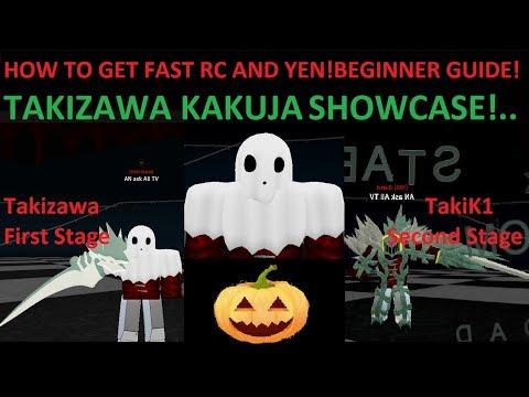 Ro-Ghoul - How To Get Fast RC & YEN   Takizawa/TakiK1 Showcase!   Beginner Guide Roblox 2019
