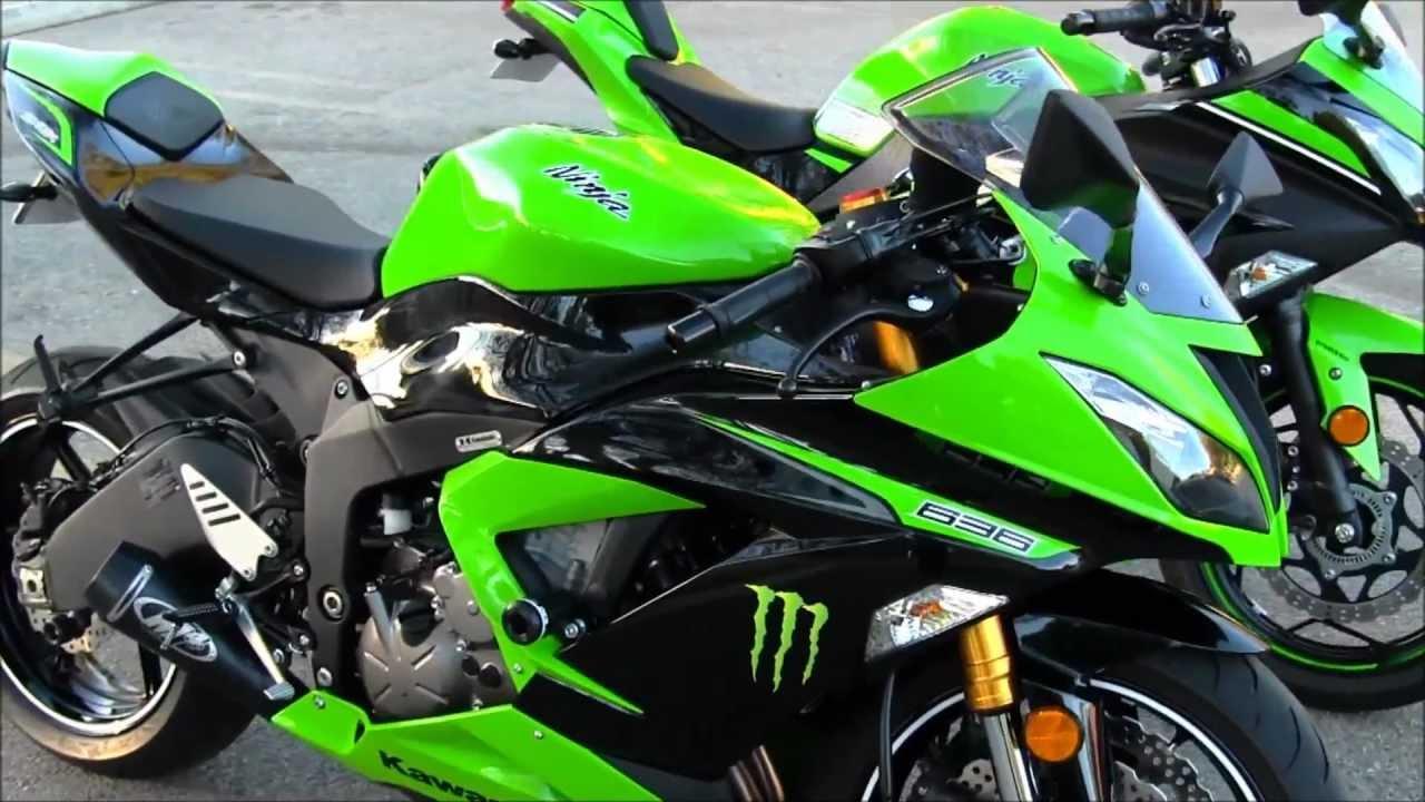 2013 Kawasaki Ninja Zx6r 636 Vs 2013 Kawasaki Ninja 300 Side By Side