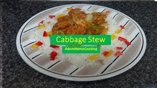 How To Prepare Cabbage Stew (with   Gizzard)