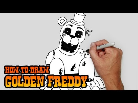 How to Draw Golden Freddy- FNAF Video Lesson