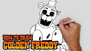 How to Draw Golden Freddy FNAF Video Lesson