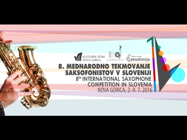 Live stream of the Final of the 8th International Saxophone Competition 2016