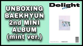 Baixar Unboxing Baekhyun 2nd Mini Album Delight (mint version)