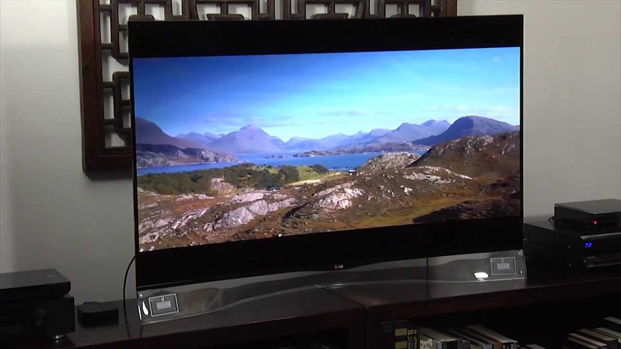 lg ea980 55 inch curved 1080p oled tv review youtube. Black Bedroom Furniture Sets. Home Design Ideas