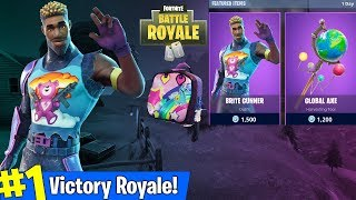 FORTNITE NEW BRITE GUNNER SKIN - BRITE BAG GAMEPLAY! (SAISON 4 BIENTÔT)