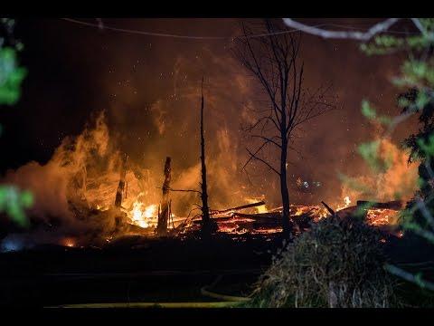 Incendie de grange à St-Joachim sur la Côte-de-Beaupré