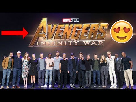Avengers Infinity War Cast get together at D-23 Expo - Tom Holland & Robert Downey Jr. - 2017