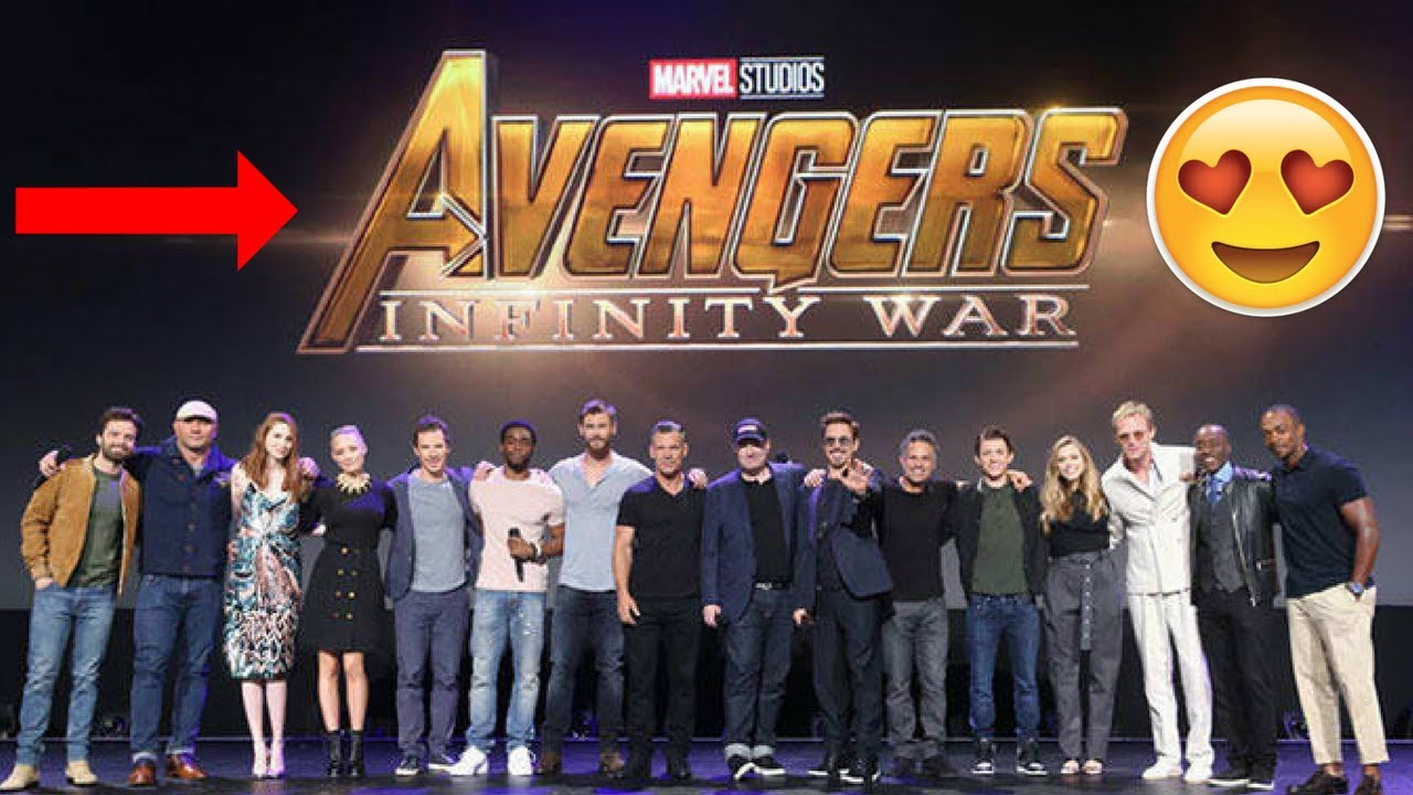 avengers infinity war cast get together at d-23 expo - tom holland