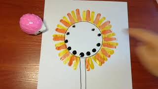 Рисование для детей 1-2 года / раннее развитие творчеством / Урок № 3 «Подсолнух»