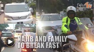 Najib, family leave residence to break fast