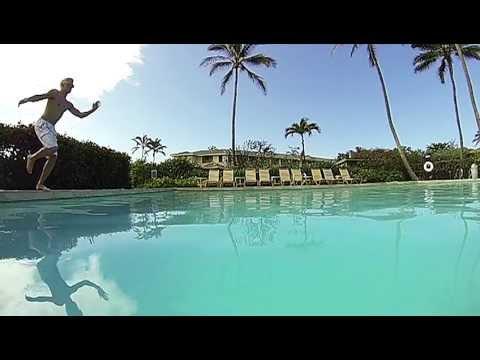 Pool Splash Cannonball cannonball pool diving @ 240fps (wxga) - youtube