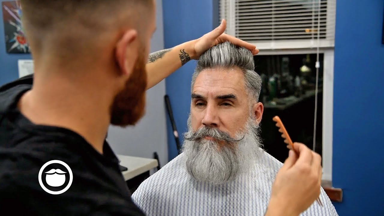 Getting The Perfect Pompadour Haircut From Your Barber Youtube