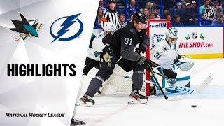 NHL Highlights   Sharks @ Lightning 12/07/19