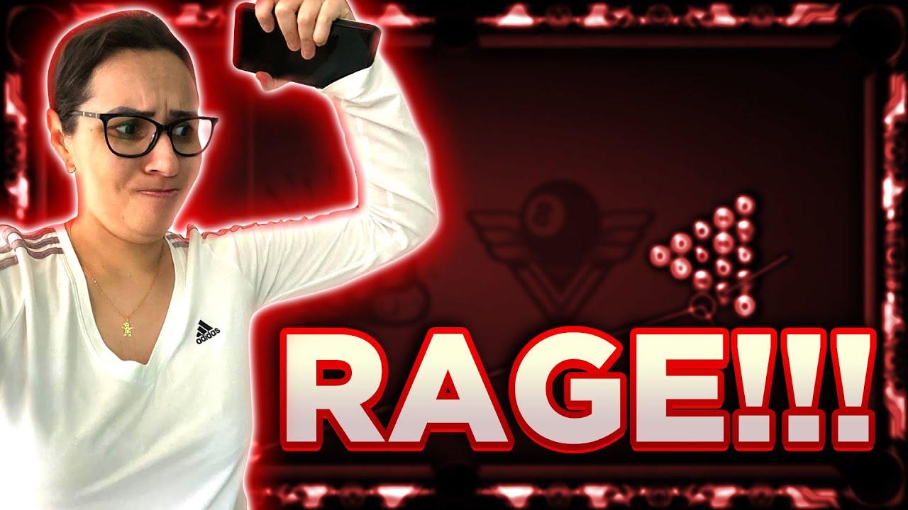 RAGE!! QUEBREI O CELULAR? VOU PARAR DE JOGAR 8 BALL?