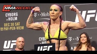 Video UFC 219: Cyborg vs. Holm Ceremonial Weigh-in (FULL) download MP3, 3GP, MP4, WEBM, AVI, FLV Juli 2018