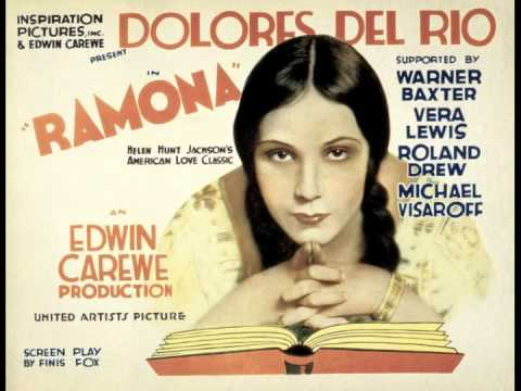Mexican Film Actress Dolores Del Rio ~ Ramona (1928)