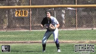 2016 Abriana Arzaga Outfield Softball Skills Video