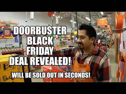 Did He Just Tell Us The Biggest Home Depot Black Friday Deal?