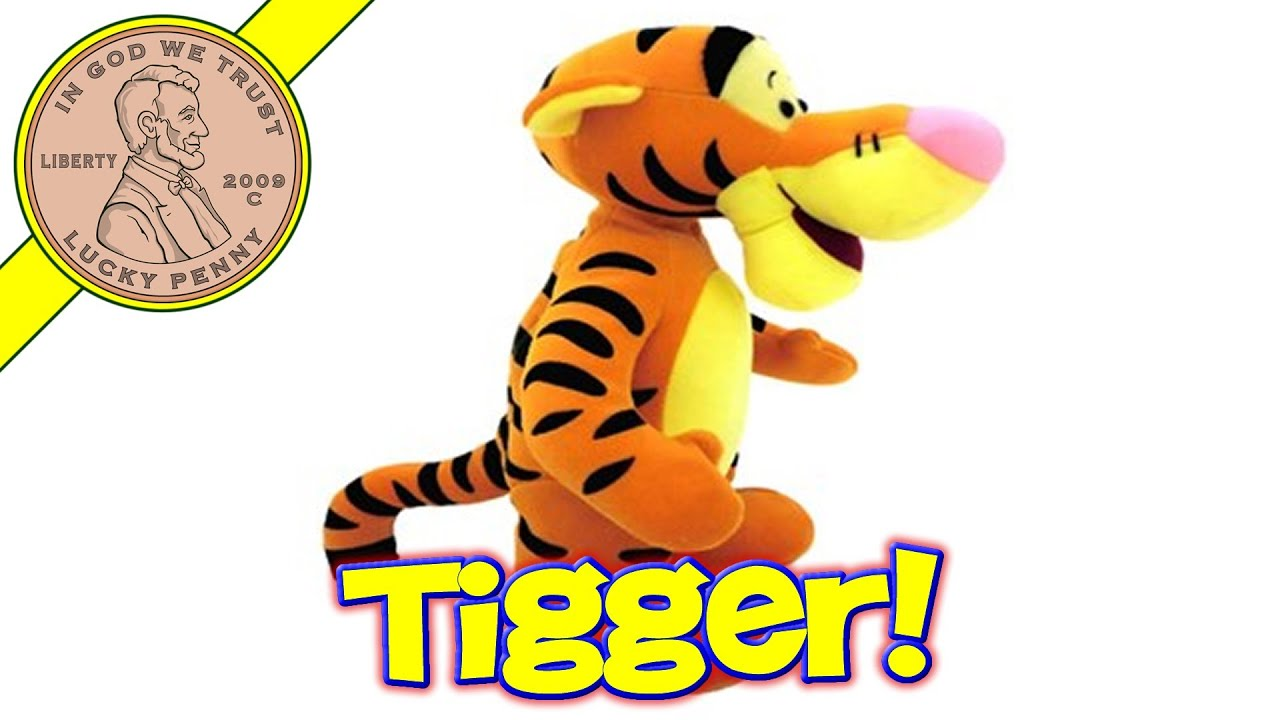 disney tigger the tiger bouncing talking toy kids toy reviews youtube